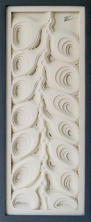 cuadro realizado en cartulina calidad fine arts representando una péndola heliconea