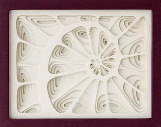 cuadro realizado en cartulina calidad fine arts representando una espiral de fibonacci o caracol