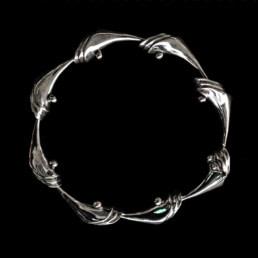 pulsera cornucopia hecha en plata 9.25