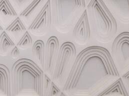 cuadro abstracto hecho en papel calado rayo
