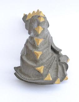 embrión ocho, Escultura de la serie embriones hecha en cerámica de gres pigmentado